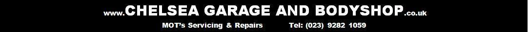 This is the Logo for Chelsea Garage and Body Shop
